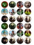 24 x Breaking Bad Edible Wafer Paper Cup Cake Top Toppers